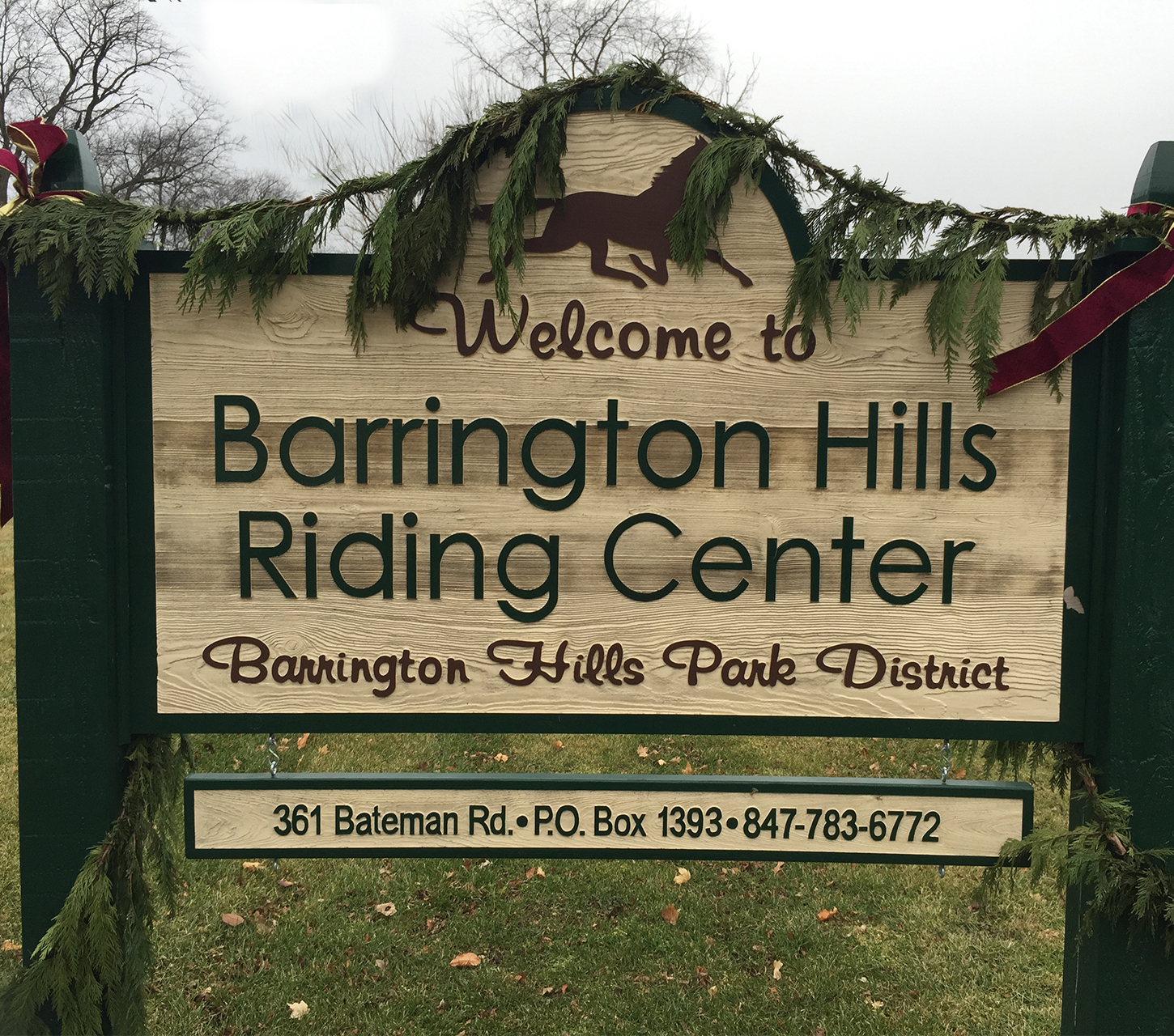Barrington Hills Riding Center Welcome Sign