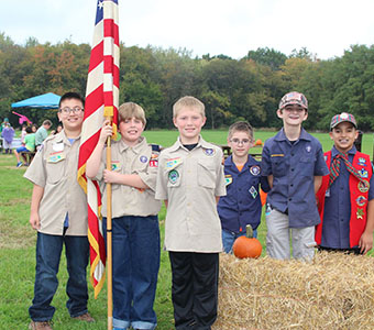 Boy Scouts at HIlls are alive